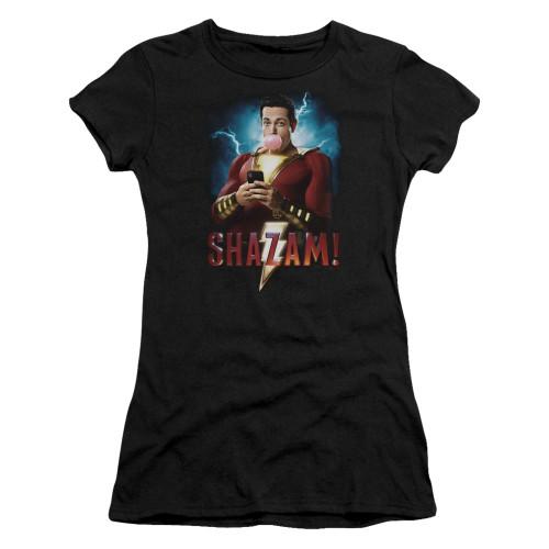 Image for Shazam Movie Girls T-Shirt - Blowing Up