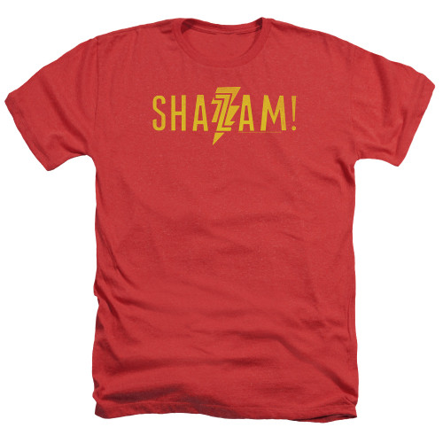 Image for Shazam Movie Heather T-Shirt - Flat Logo