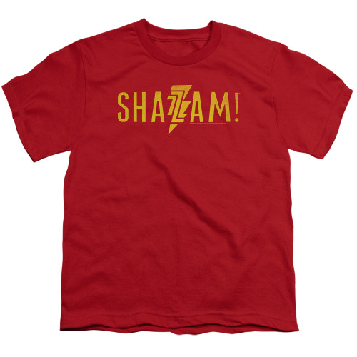 Image for Shazam Movie Youth T-Shirt - Flat Logo