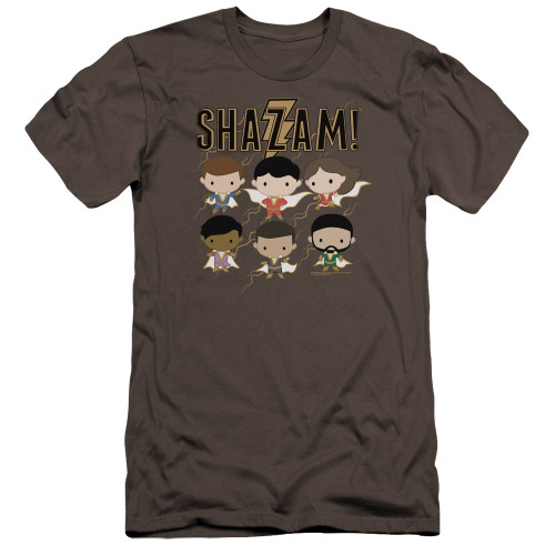 Image for Shazam Movie Premium Canvas Premium Shirt - Chibi Group