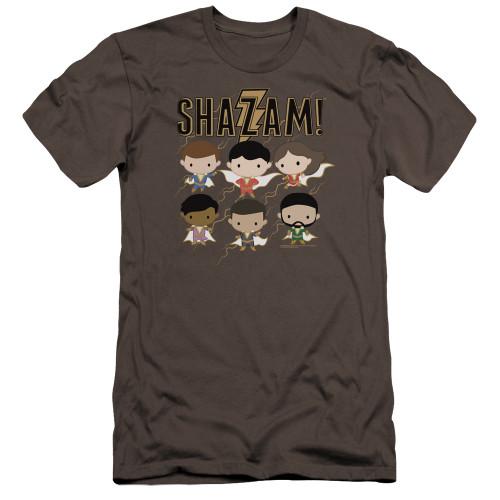 Image for Shazam Movie Premium Canvas Premium Shirt - Chibi Group
