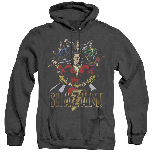 Image for Shazam Movie Heather Hoodie - Group of Heroes