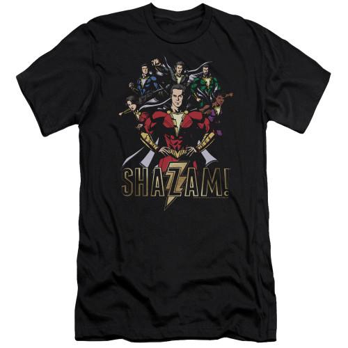 Image for Shazam Movie Premium Canvas Premium Shirt - Group of Heroes