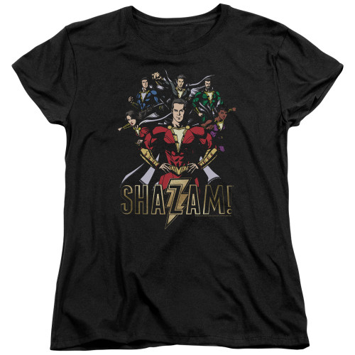 Image for Shazam Movie Womans T-Shirt - Group of Heroes