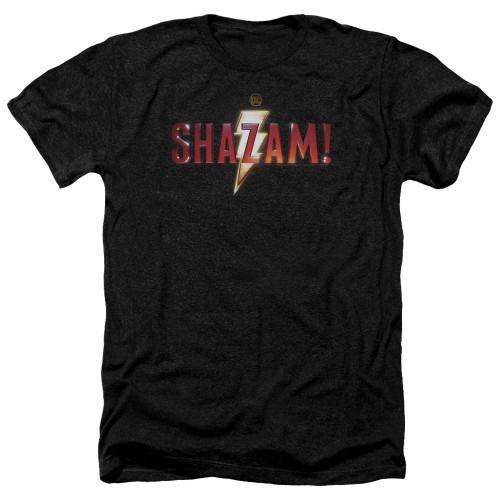 Image for Shazam Movie Heather T-Shirt - Logo