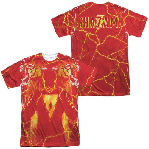 Image for Shazam Movie Sublimated T-Shirt - What's Inside 100% Polyester
