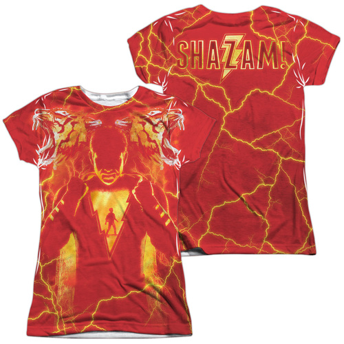 Image for Shazam Movie Girls T-Shirt - Sublimated What's Inside