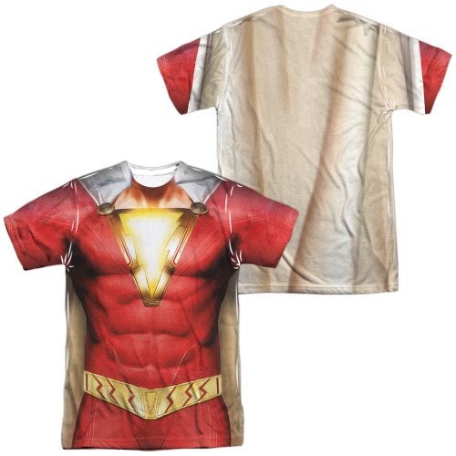 Image for Shazam Movie Sublimated T-Shirt - Uniform 100% Polyester