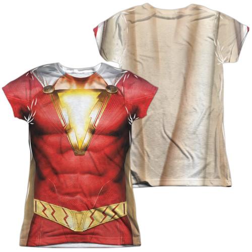 Image for Shazam Movie Girls T-Shirt - Sublimated Uniform
