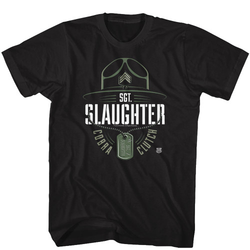 Image for WWE T-Shirt - Sgt. Slaughter Cobra Clutch with Dog Tag
