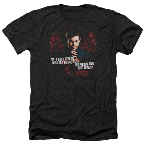 Image for Dexter Heather T-Shirt - Good Bad