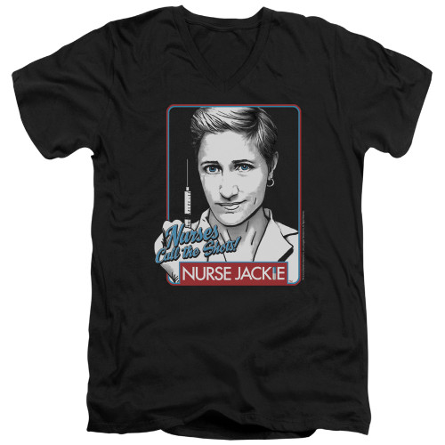 Image for Nurse Jackie T-Shirt - V Neck - Nurses Call the Shots