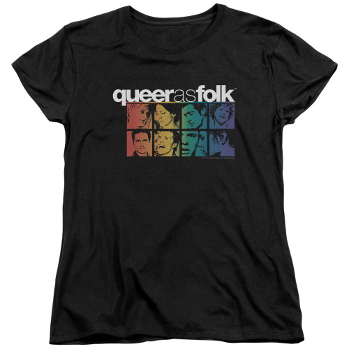 Image for Queer as Folk Woman's T-Shirt - Cast