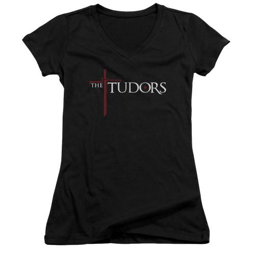 Image for The Tudors Girls V Neck T-Shirt - Logo