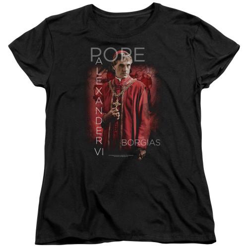Image for The Borgias Woman's T-Shirt - Pope Alexander VI