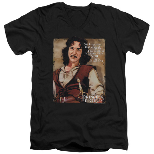 Image for The Princess Bride V Neck T-Shirt - You Keep Using that Word