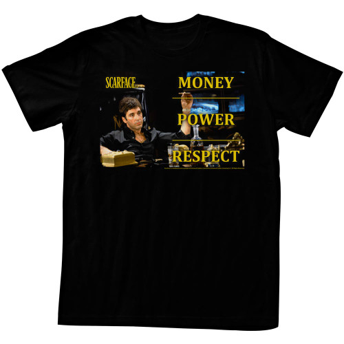 Image for Scarface T Shirt - Money Power Respect