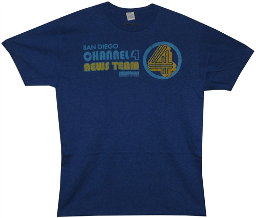 Image Closeup for Anchorman Channel 4 News Team T-Shirt