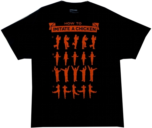 Image Closeup for Arrested Development How to Imitate a Chicken T-Shirt