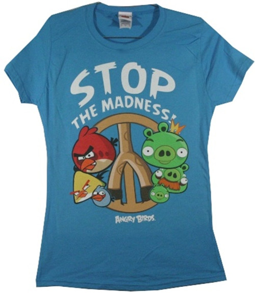 Image for Angry Birds Stop the Madness Girls T-Shirt