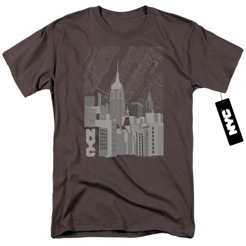 Image for New York City T-Shirt - Manhattan Monochrome