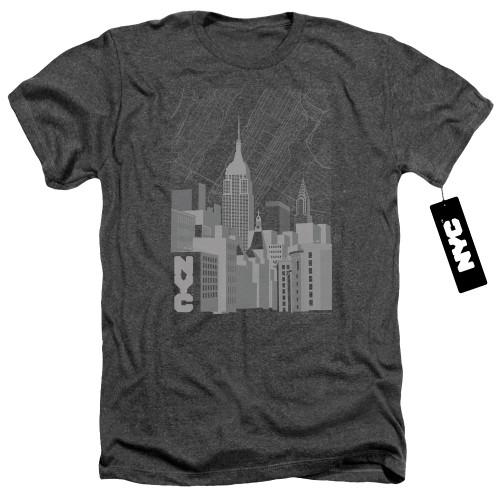 Image for New York City Heather T-Shirt - Manhattan Monochrome