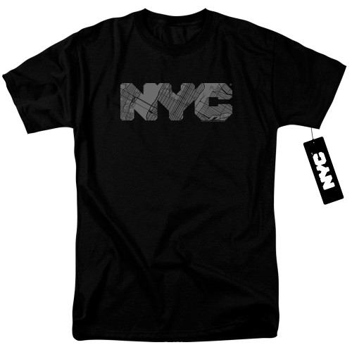 Image for New York City T-Shirt - NYC Map Fill