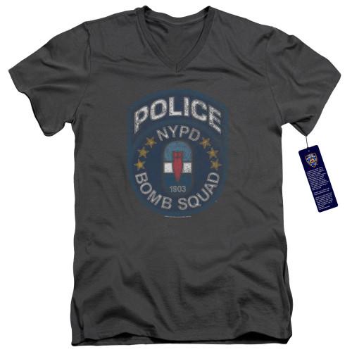 Image for New York City V Neck T-Shirt - Bomb Squad