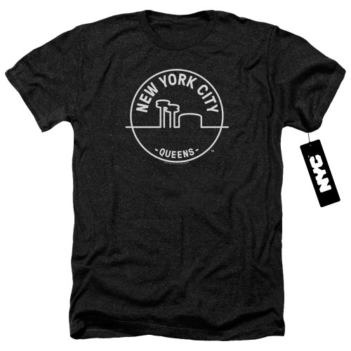 Image for New York City Heather T-Shirt - See NYC Queens