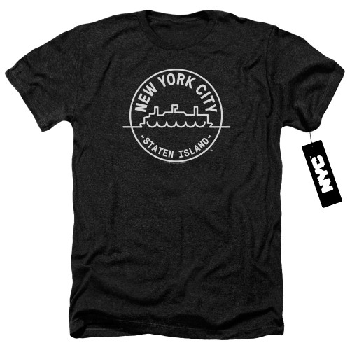 Image for New York City Heather T-Shirt - See NYC Staten Island