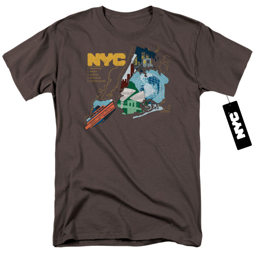 Image for New York City T-Shirt - Five Boroughs