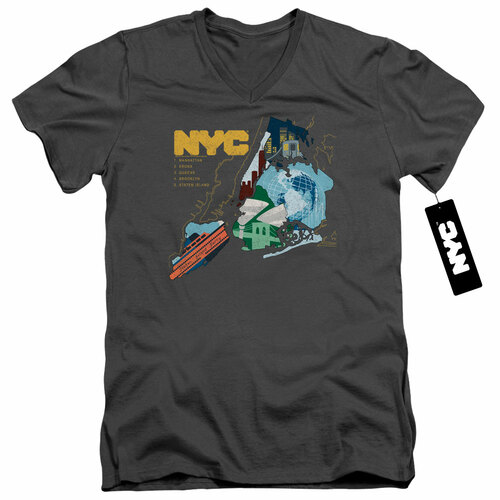 Image for New York City V Neck T-Shirt - Five Boroughs