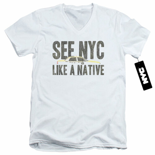 Image for New York City V Neck T-Shirt - Like a Native