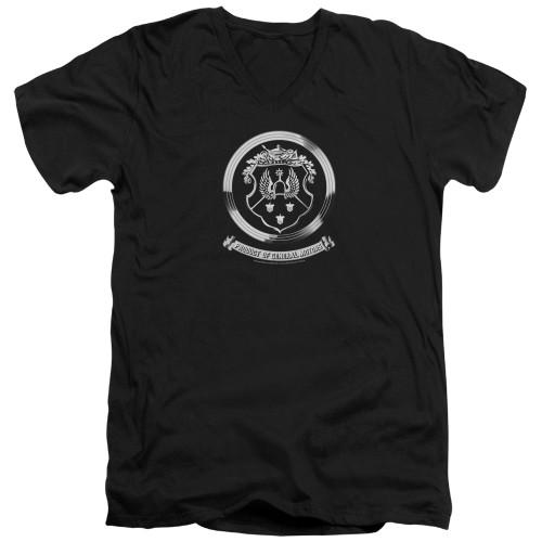 Image for Oldsmobile V Neck T-Shirt - 1930s Crest Emblem