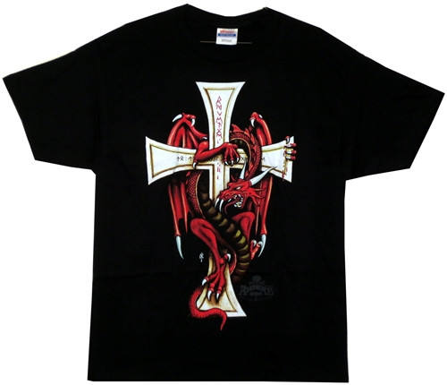 Image Closeup for Alchemy Gothic Revenge on St. George T-Shirt