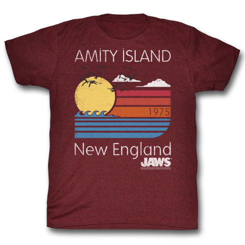 Image for Jaws T-Shirt - Amity Island New England