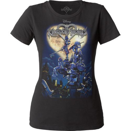 Image for Kingdom Hearts Cover Juniors Crew Neck Shirt