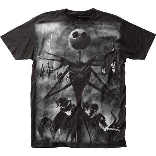 Image for The Nightmare Before Christmas Subway T-Shirt - Rainstorm