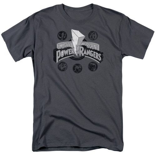 Image for Mighty Morphin Power Rangers T-Shirt - Power Coins
