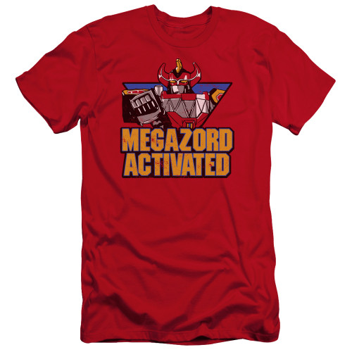 Image for Mighty Morphin Power Rangers Premium Canvas Premium Shirt - Megazord Activated
