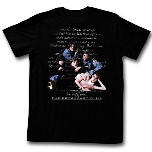 Image for The Breakfast Club T-Shirt - Letter