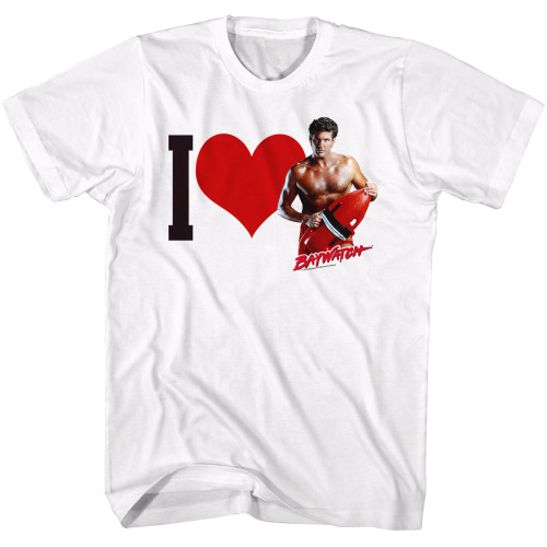 Image for Baywatch T-Shirt - I Love the Hoff