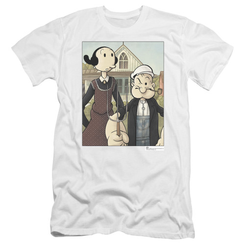 Image for Popeye the Sailor Premium Canvas Premium Shirt - Gothic