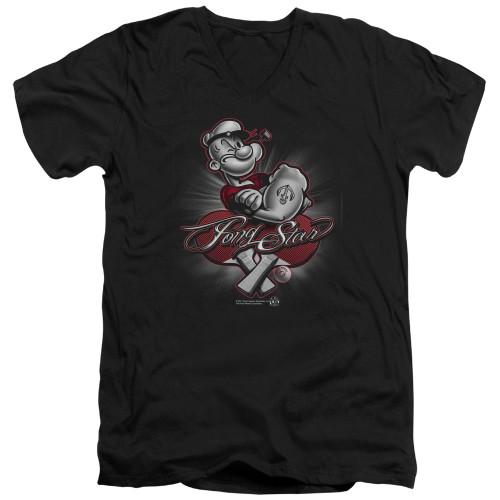 Image for Popeye the Sailor T-Shirt - V Neck - Pong Star