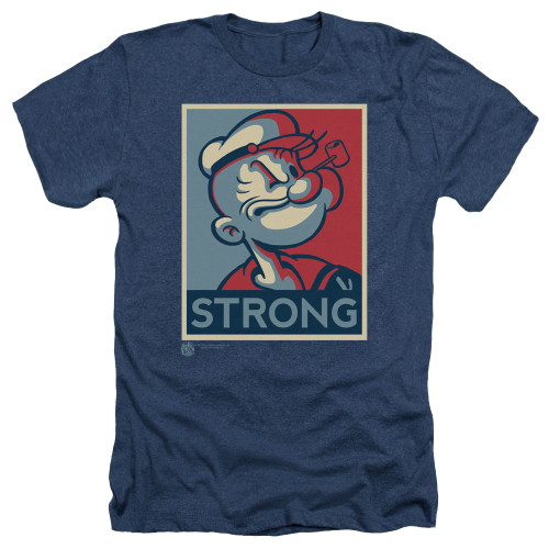 Image for Popeye the Sailor Heather T-Shirt - Strong Motorcycle