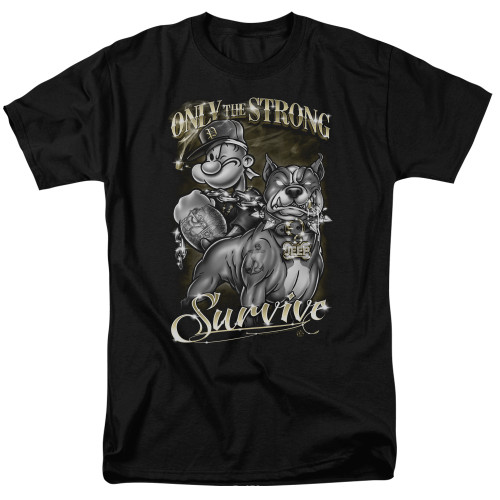 Image for Popeye the Sailor T-Shirt - Only the Strong