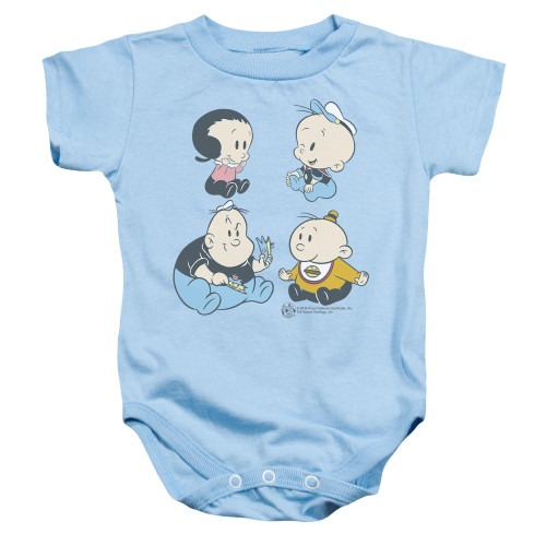Image for Popeye the Sailor Four Friends Infant Baby Creeper