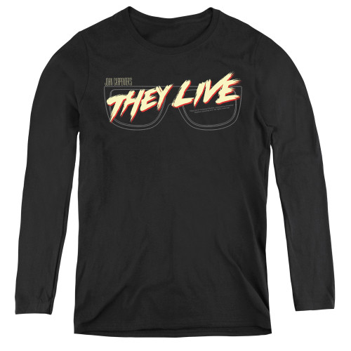 Image for They Live Women's Long Sleeve T-Shirt - Glasses Logo