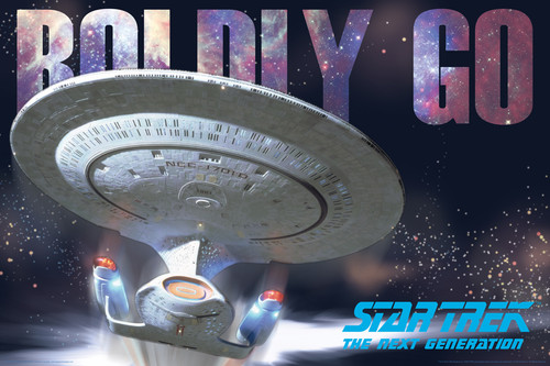 Image for Star Trek Next Generation Boldly Go Poster