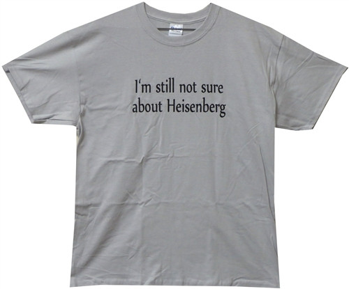 Image Closeup for I'm Still Not Sure about Heisenberg T-Shirt